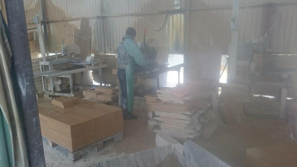 Производство плитки из рукельского ракушечника