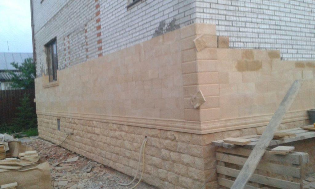 Работы по облицовке дагестанским камнем-2