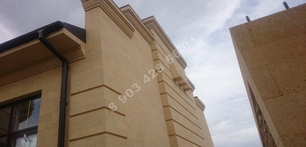 Ракушечник дербентский на фасаде