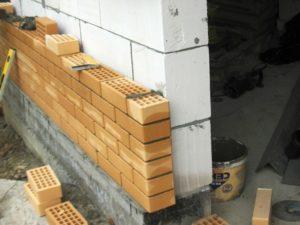 Облицовка стен из пнобетона и газобетона