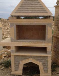 Печь для выпечки хлеба из дагестанского камня